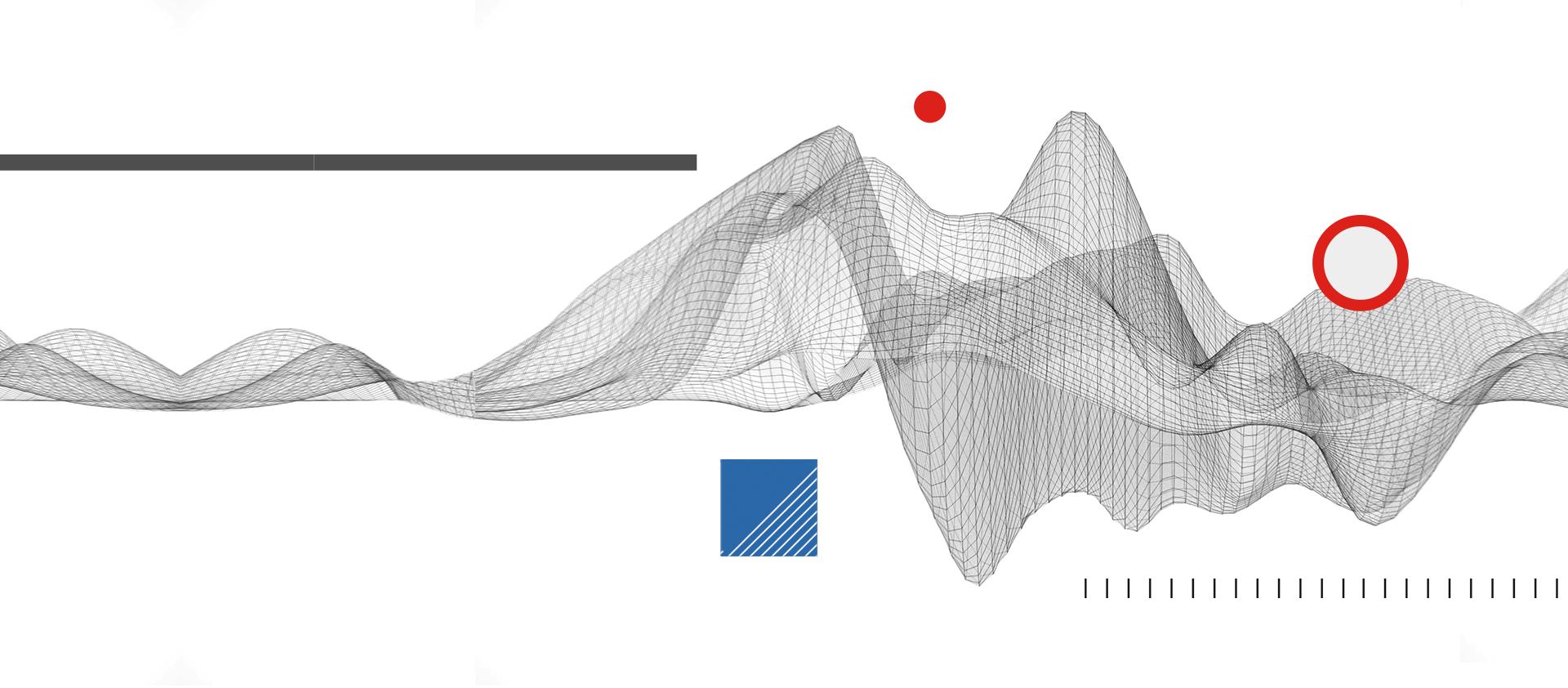 Abstract illustration representing data.