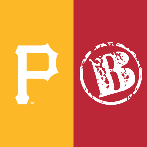Logo for Baseball Team The Pittsburgh Pirates® and the Bono's Pit Bar-B-Q, a restaurant chain.