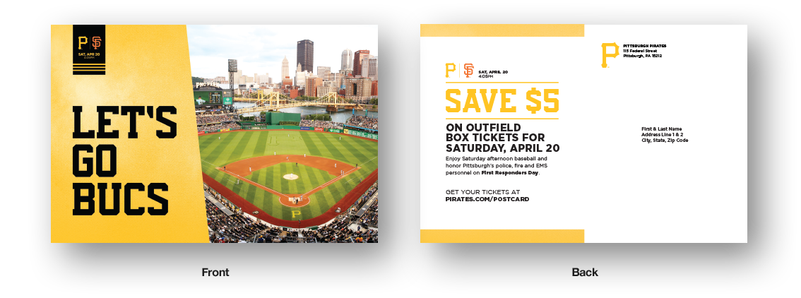 Direct mail from the Pittsburgh Pirates
