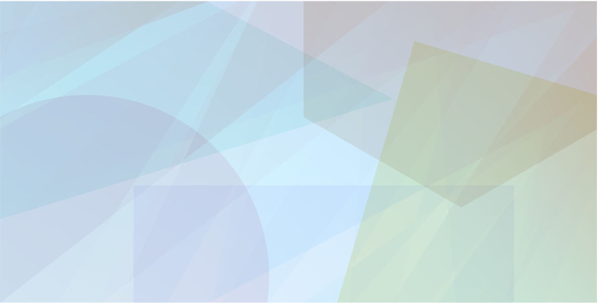 Abstract illustration of overlapping blue, green and purple shapes.