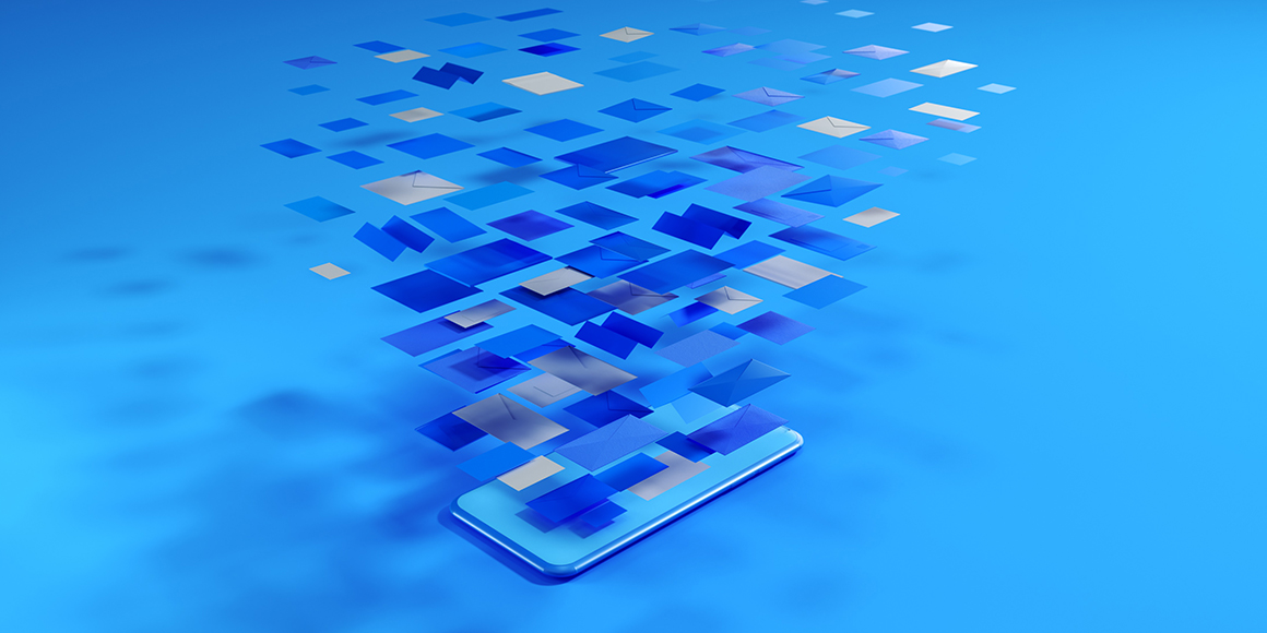 Pixels landing on the screen of a cell phone.