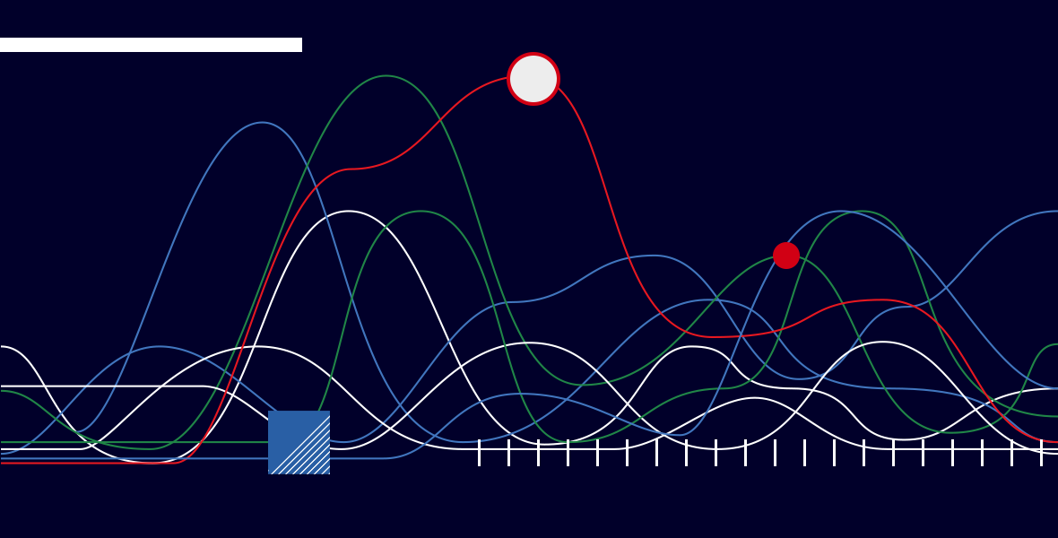 Illustration representing data and various graphical elements.